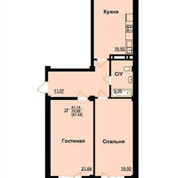 ЖК Арктур (Махачкала) – планировка №11