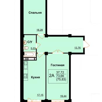 ЖК Арктур (Махачкала) – планировка №10