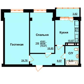 ЖК Арктур (Махачкала) – планировка №9