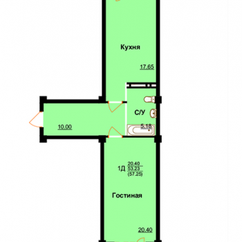 ЖК Арктур (Махачкала) – планировка №7