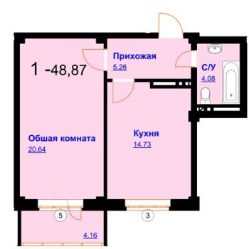 ЖК Северный (Махачкала) – планировка №2