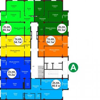 ЖК Аркада Сити (Махачкала) – планировка №6
