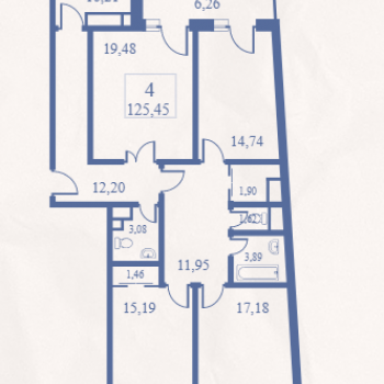 ЖК Маяк (Москва) – планировка №15