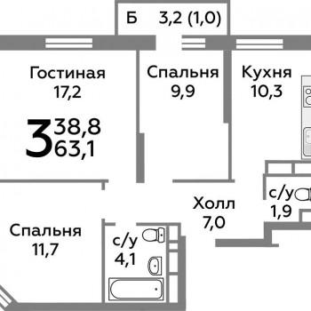 ЖК Новоград Павлино (Москва) – планировка №16