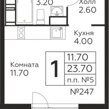 ЖК Новоград Павлино (Москва) – планировка №3