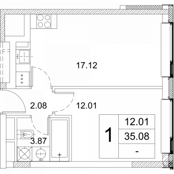 ЖК Зиларт (Москва) – планировка №1