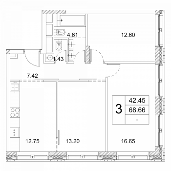 ЖК Зиларт (Москва) – планировка №22