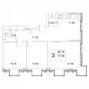 ЖК Зиларт (Москва) – планировка №21