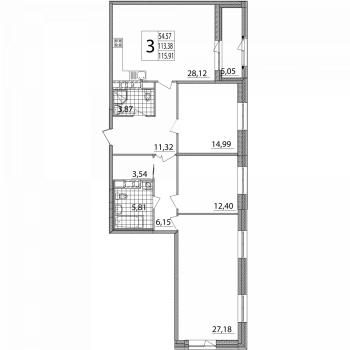 ЖК Зиларт (Москва) – планировка №18
