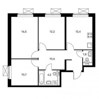 ЖК Одинцово 1 (Москва) – планировка №2