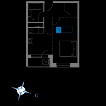 ЖК Атмосфера (Москва) – планировка №3
