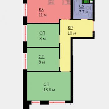 ЖК Невский (Москва) – планировка №15