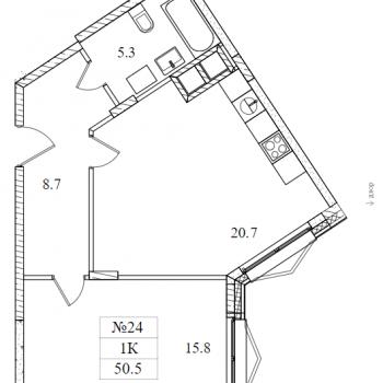 ЖК Май (Москва) – планировка №1
