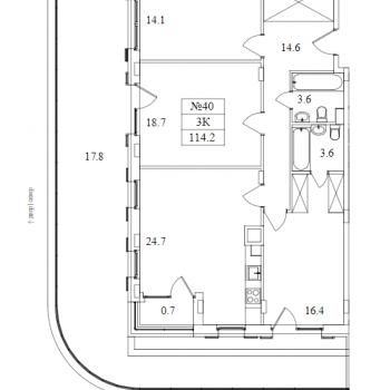 ЖК Май (Москва) – планировка №15