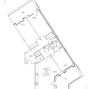 ЖК Май (Москва) – планировка №14
