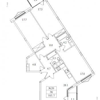 ЖК Май (Москва) – планировка №11