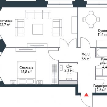 ЖК Ривер Парк (Москва) – планировка №5
