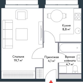 ЖК Ривер Парк (Москва) – планировка №3