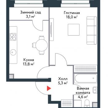 ЖК Ривер Парк (Москва) – планировка №1