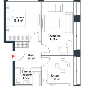 ЖК Ривер Парк (Москва) – планировка №10