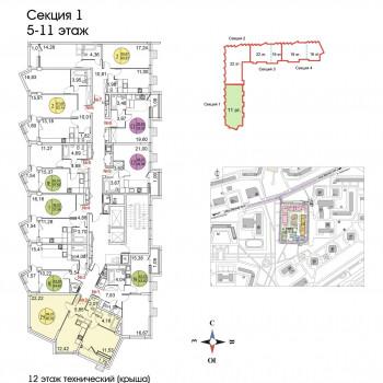 ЖК Тополя (Москва) – планировка №7