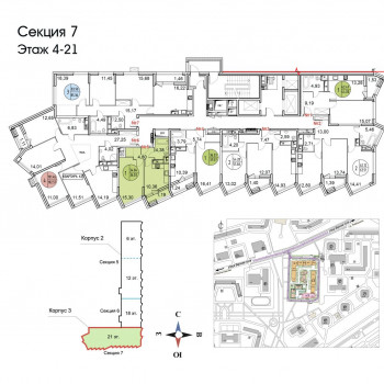 ЖК Тополя (Москва) – планировка №6