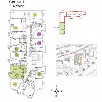 ЖК Тополя (Москва) – планировка №1