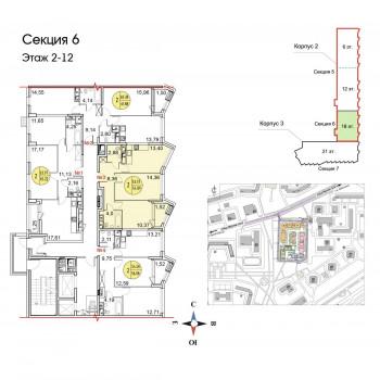 ЖК Тополя (Москва) – планировка №11