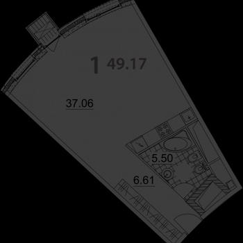 ЖК Нахимов (Москва) – планировка №4