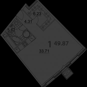 ЖК Нахимов (Москва) – планировка №1