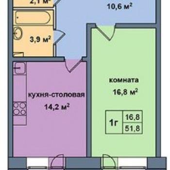 ЖК Малая Истра (Москва) – планировка №3