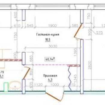 ЖК Северная резиденция (Мурманск) – планировка №3