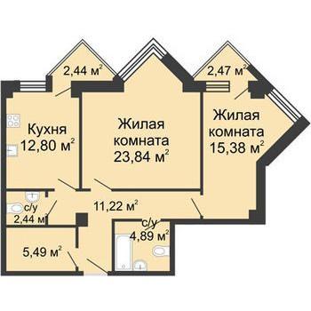 ЖК С видом на небо (Нижний Новгород) – планировка №2