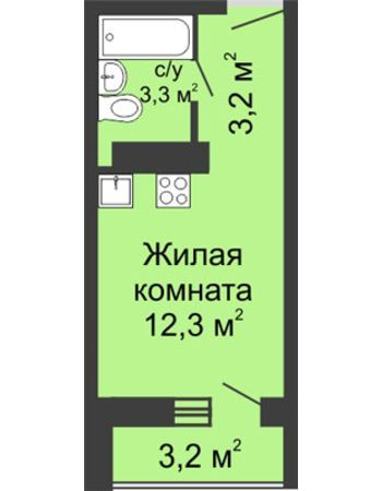 ЖК ЮГ (Нижний Новгород) – планировка №13