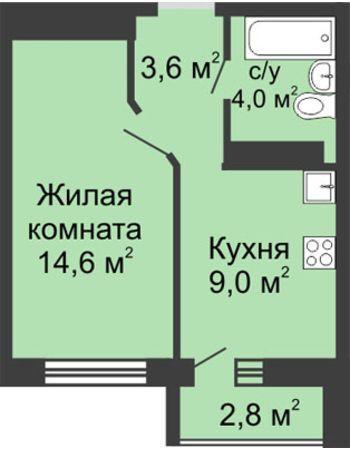 ЖК ЮГ (Нижний Новгород) – планировка №12