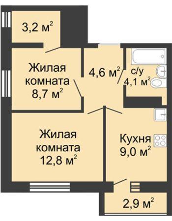 ЖК ЮГ (Нижний Новгород) – планировка №21