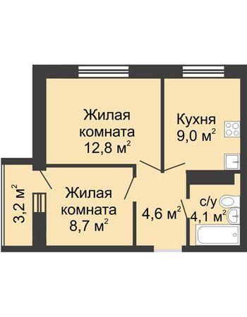 ЖК ЮГ (Нижний Новгород) – планировка №22