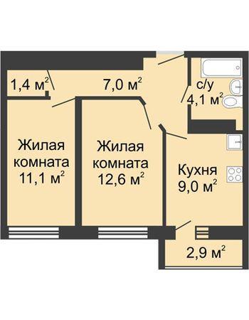 ЖК ЮГ (Нижний Новгород) – планировка №19