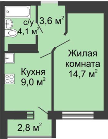 ЖК ЮГ (Нижний Новгород) – планировка №26