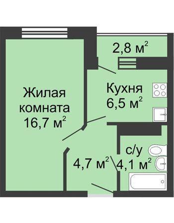 ЖК ЮГ (Нижний Новгород) – планировка №8