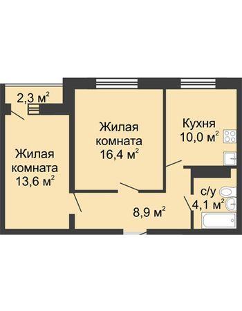 ЖК ЮГ (Нижний Новгород) – планировка №16