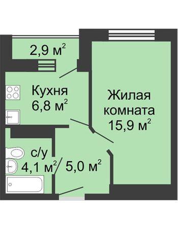 ЖК ЮГ (Нижний Новгород) – планировка №9