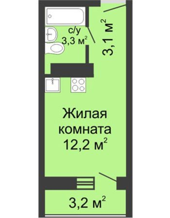 ЖК ЮГ (Нижний Новгород) – планировка №29