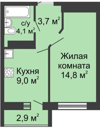 ЖК ЮГ (Нижний Новгород) – планировка №25