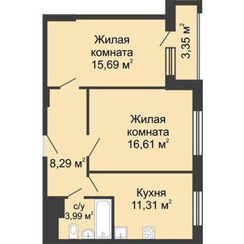 ЖК Москва Градъ (Нижний Новгород) – планировка №1