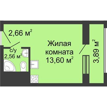 ЖК Москва Градъ (Нижний Новгород) – планировка №5