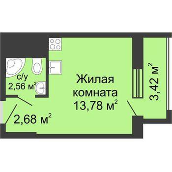 ЖК Москва Градъ (Нижний Новгород) – планировка №4