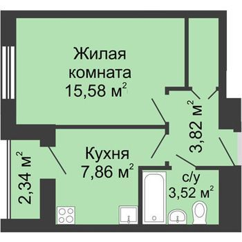ЖК Москва Градъ (Нижний Новгород) – планировка №8