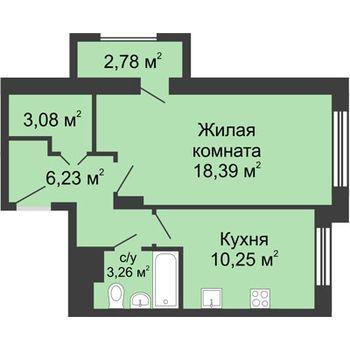 ЖК Москва Градъ (Нижний Новгород) – планировка №9