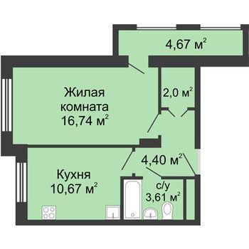 ЖК Москва Градъ (Нижний Новгород) – планировка №7